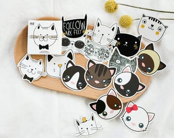 Lovely Cat Deco Stickers (45 Stickers)