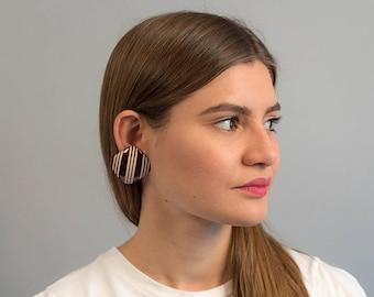 Oversized Geometric Earrings / Square Earrings / Vintage 80s Earrings / Bold Statement Earrings / Costume Jewelry / Fashion Earrin
