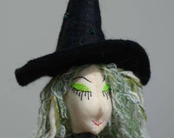 Halloween Witch Art Doll OOAK Ailsa