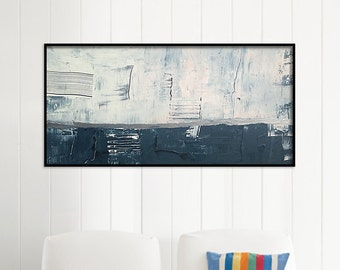 48x24 Inch Large abstract painting Original abstract painting Canvas painting Large canvas art Original painting Large Art navy painting