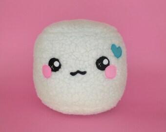 Fluffy Marshmallow plushie - kawaii food pillow novelty cushion