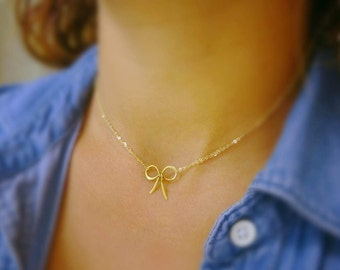 Bundle priced set of EIGHT Bow NECKLACES, Bridesmaid jewelry, Tie the Knot, necklaces for bridesmaids, wedding jewelry, friendship, Otis B
