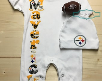 Dallas cowboys personalized baby romper and hat set cowboys pittsburgh steelers baby romper and hat set steelers baby outfit personalized baby going negle Gallery