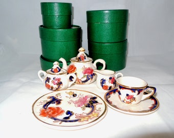 Vintage Miniature Mason's Ironstone Tea Set