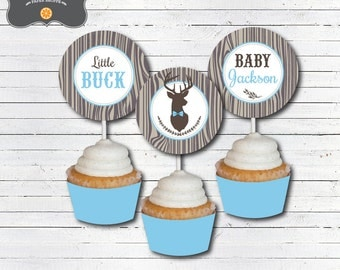 Bbq baby shower cupcake toppers decorations baby q baby for Baby shower bbq decoration ideas