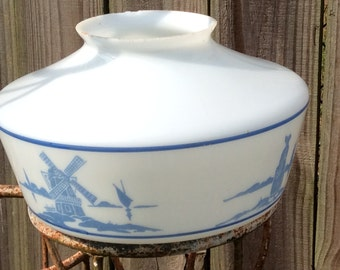 Vintage Blue and White Ceiling Globe Windmill Dutch Girl