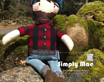 Lumberjack Sewing Pattern by Simply Mae - PDF Instant Download, DIY Doll & Softie