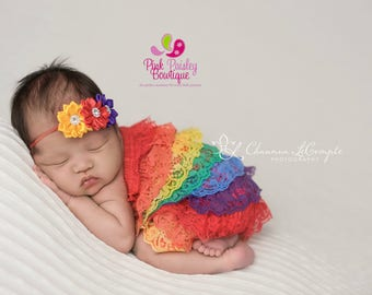 Rainbow Baby Girl Outfit. Newborn Rainbow Baby 1st birthday outfit, Rainbow Dress, Rainbow Outfit, Baby romper, Cake Smash Outfit