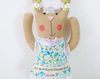 Bunny rabbit flower girl doll