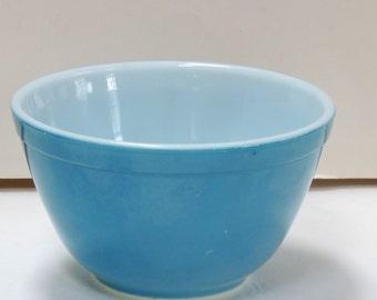 Vintage Bowl, Pyrex Bowl,Ceramic,Blue,Single Serve,Snack Bowl,Ice Cream Bowl,Cereal Bowl