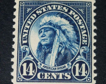 US stamp #565 American Indian Mint 1922