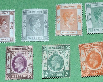 Hong Kong 1912 and 1938 MINT King George 5,6th and King Edward the 7th