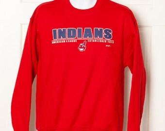 90s INDIANS Cleveland Indians Sweatshirt - M