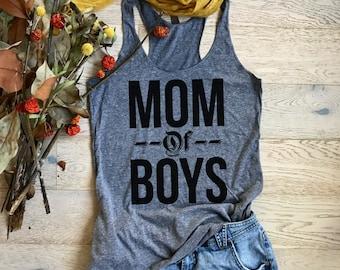 Mom Of Boys. Women's Eco Tri-Blend Tanks. Women Clothing. Mom's Tank Top. Mom's Best Tank Top. Mother's Tank Top. Mom's T-shirt.