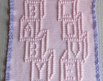 Crochet Baby Blanket Pattern - Baby Love Blocks - Baby Blanket Pattern - Blanket Pattern