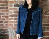 vintage denim Jacket Maverick 1970s Jean Jacket Blue Bell Made in USA Size M or L