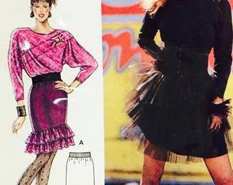 Burda Frilled Tulle Skirt 5637