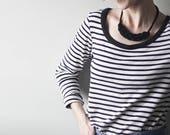 collier de corde de coton tressé, choisissez votre couleur, avec ou sans tubes de cuivre