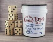 20 GAMES. On SALE. YARDzee Deluxe PERSONALIZED yahtzee, young to elderly game, wedding gift, giant Yahtzee, yard dice, Yatzee lawn dice