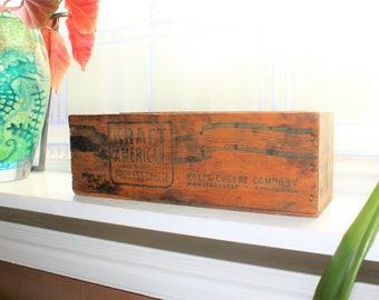 Antique Cheese Box Kraft American Wood Cheese Box