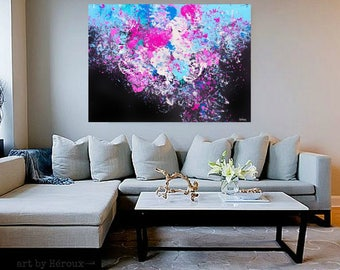 Large Abstract art, Abstract Painting, large bold Abstract wall art, Modern Art on unstrecthed Canvas, vibrant Painting, MADE TO ORDER,