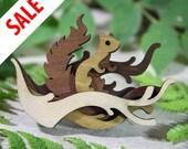 SALE Woodland Brooch: Squirrel