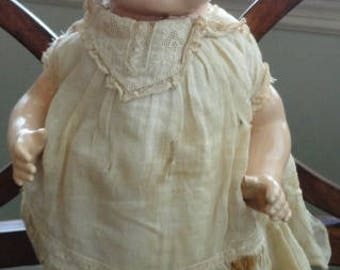 """C850)  Vintage Madame Hendren 15"""" doll  eyes open and close original clothes"""