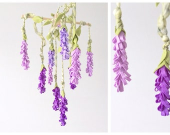 READY TO SHIP Baby Mobile - Flower Mobile - baby mobile flower - baby girl mobile - wisteria mobile - flower nursery
