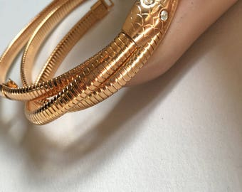 Vintage gold snake chain belt NOS