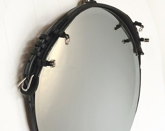 Leather Buckle Mirror (24-inch)