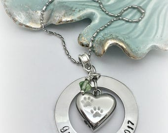 Personalized Pet Cremation Urn/Car Ornament urn/Urn Ornament for Pet Ashes/Paw Print Urn/Urn for Dog/Urn for Cat/Loss of Animal/Pet memorial