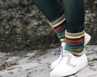 Native tribal boot cuffs, Boho boot covers, Gypsy boot socks, 70' clothing, Hippie boot cuffs, Boot socks, Ethnic boot cuffs, Black Friday