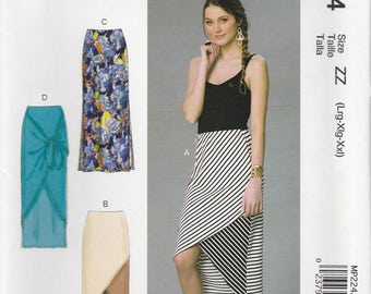 Cool Overlap Skirt Pattern McCalls 7393 MP224 Sizes L, XL, XXL (Sizes 16-26) Uncut
