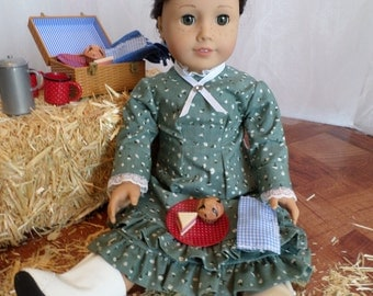"""Laura Ingall's 1800's Inspired 18"""" Doll Outfit"""