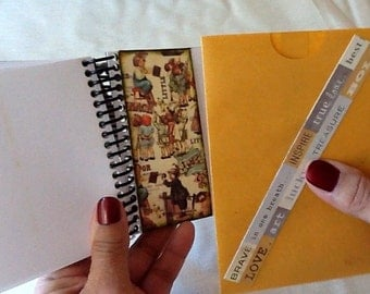Altered Londonderry Journal, Altered Notebook, Prima Londonderry Journal, Altered Blank Rememberance Book, Londonderry Themed Journal