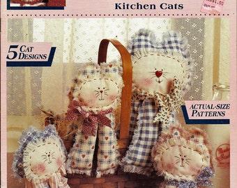 Kitchen Cats Fabric Craft Pattern Book McCall's Creates Item 14159