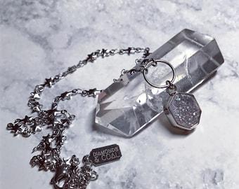 Druzy Stars Choker Necklace - Angel Aura