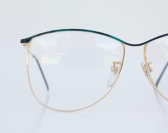 Vintage Forest Green Wire Eyeglasses Frames