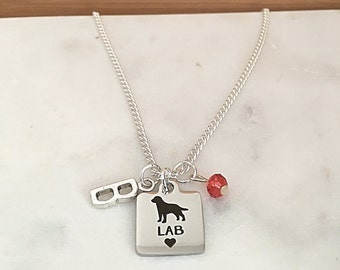 Personalized Lab Lovers  Necklace