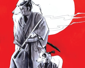 Lone Wolf and Cub Fine Art Poster Print