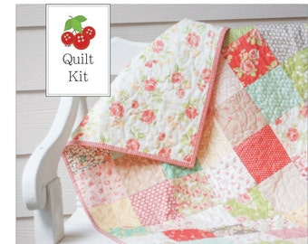 Strawberry Fields Baby Quilt Kit - Crib Quilt Kit - Lap Quilt Kit - One Kit - SFQK
