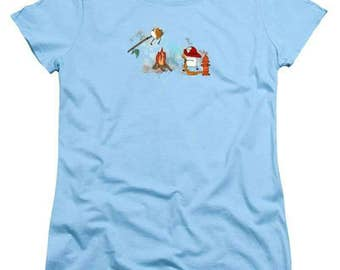 Too Toasted Marshmallow Firefighter - Women's TShirt - soft tee - 100% cotton - FREE US shipping