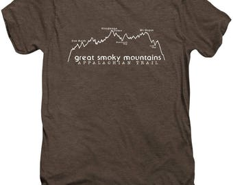 Appalachian Trail Great Smoky Mountains Elevation Profile - Unisex TShirt - soft tee - FREE US shipping