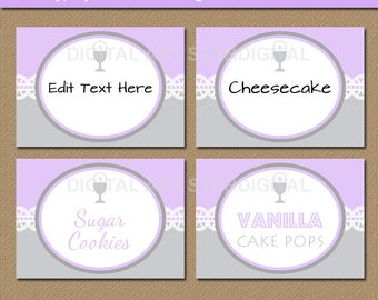 Girl First Holy Communion Candy Buffet Label, First Communion Buffet Cards, 1st Communion Labels, PRINTABLE Food Labels, Place Card Template