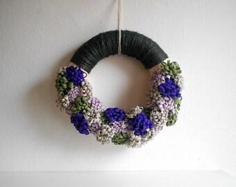 Spring wreath fabric flower home decor front door decoration