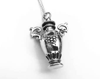 Cremation Necklace, Urn Locket, Vase Urn, Ashes Holder Necklace, Cremation Locket, Memory Locket, Cremation Jewelry