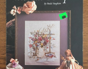 CCS Pattern -  Victorian Bouquet by Paula Vaughan - Counted Cross Stitch Pattern Chart, Book Nine, Leaflet 521