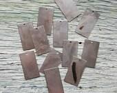 Vintaj Artisan Arte Metal {Rustic 12x22mm Rectangle Blank} 12 Pcs - RAHW0002