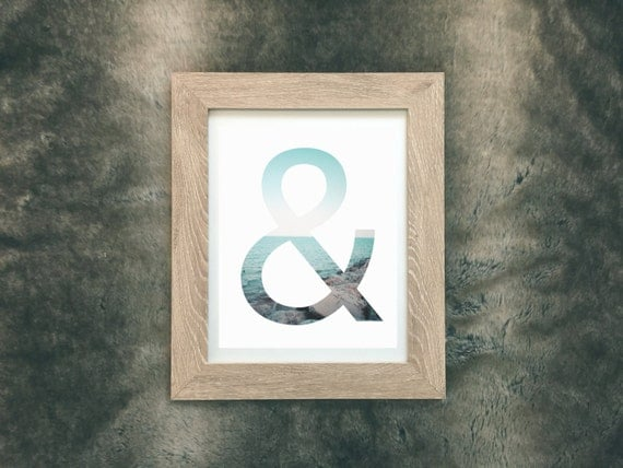 Items similar to ampersand print half full or half empty for Ampersand chicago