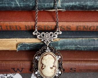 Victorian Jewelry, Steampunk Jewelry, Cameo Jewelry, Steam Punk, Cameo Necklace, Cameo Jewelry, Victorian Necklace, Neo Victorian, Goth